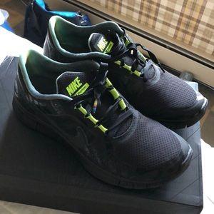 9e79486c549 Nike Shoes - Nike free run (+) 3 Hurley NRG Size 12 black volt